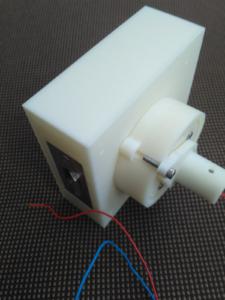 3Д печать фрагмент двери с электрозамком