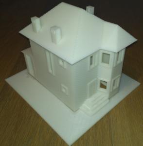 3Д печать модель коттеджа